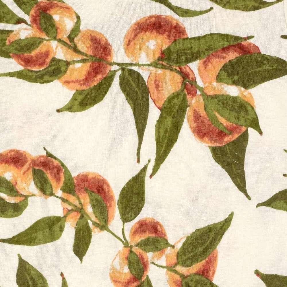Peaches Organic Cotton Print Detail by Milkbarn Kids